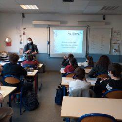 2-en classe avant la visite